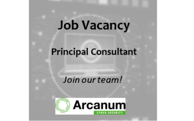 Job Vacancy for Principal Consultant