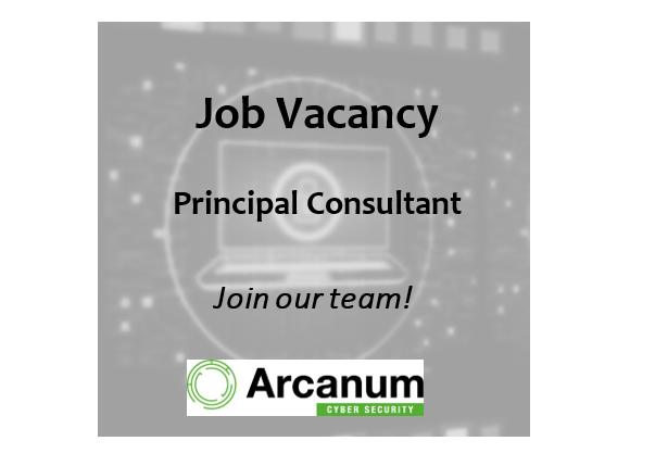 Job Vacancy for Principal Consultant