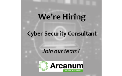 We're Recruiting – Cyber Security Consultant