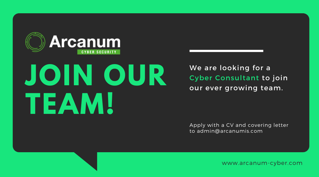 We're Recruiting – Cyber Consultant